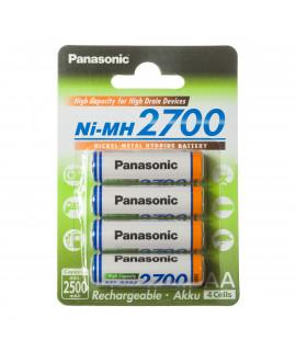 4 AA Panasonic 2700 - blister - 2500mAh