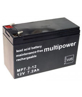 Multipower 12V 7.2Ah Loodaccu (4.8mm)